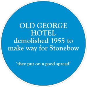 Plaque made for the Stonebow Inquiry event and will be displayed on 10th May too